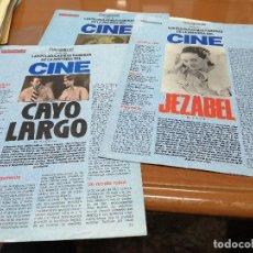 Cine: FOTOGRAMAS - PELICULAS FAMOSAS - 5 COLECCIONABLES - MUY BUEN ESTADO. Lote 223657082
