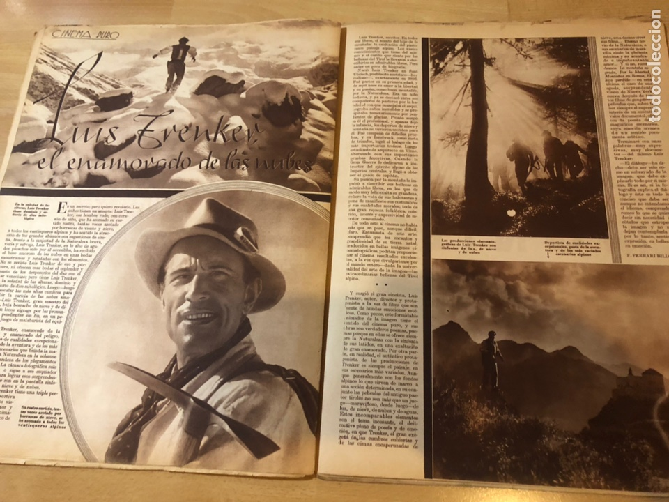 Cine: Revista cinegramas dic 1935.myrna loy William Powell Greta garbo Luis trenker - Foto 7 - 223704372