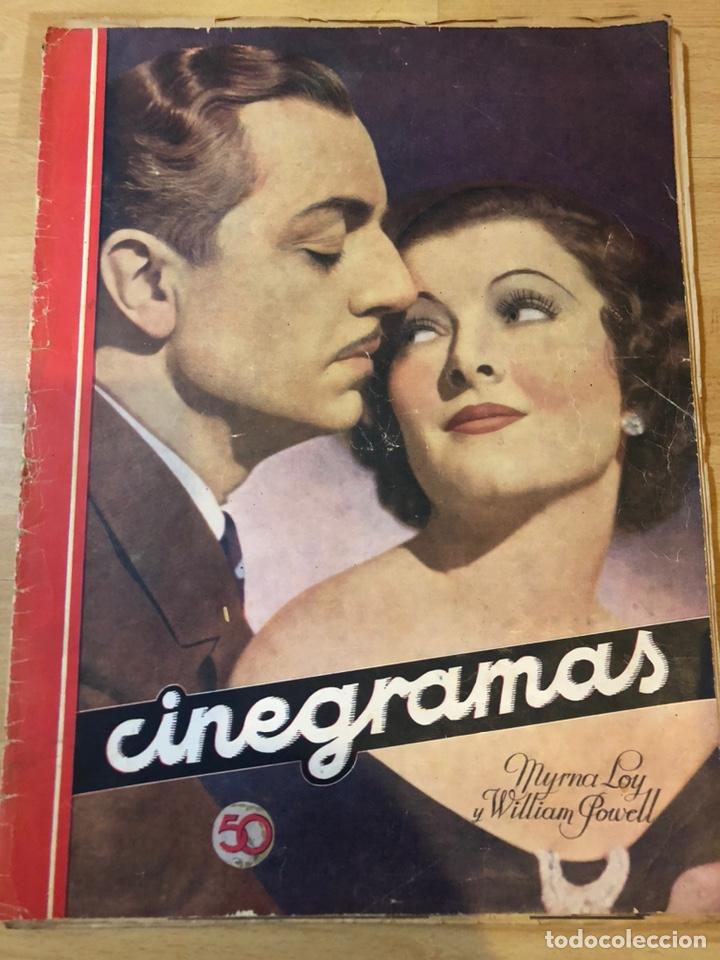 REVISTA CINEGRAMAS DIC 1935.MYRNA LOY WILLIAM POWELL GRETA GARBO LUIS TRENKER (Cine - Revistas - Cinegramas)