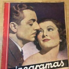 Cine: REVISTA CINEGRAMAS DIC 1935.MYRNA LOY WILLIAM POWELL GRETA GARBO LUIS TRENKER. Lote 223704372