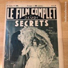 Cinema: SECRETOS.LESLIE HOWARD MARY PICKFORD.LE FILM COMPLET 1933. Lote 223762633
