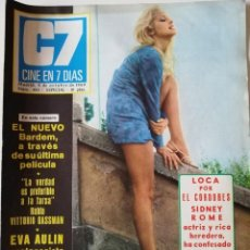 Cine: REVISTA CINE EN 7 DÍAS Nº 443 EVA AULIN SIDNEY ROME VITTORIO GASSMAN ANNY QUINTAS ROMY SCHEIDER. Lote 223810968