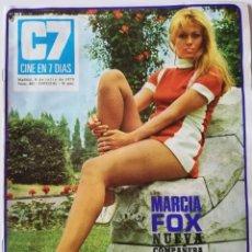 Cine: REVISTA CINE EN 7 DÍAS Nº 483 MARCIA FOX SERRAT PATTY SHEPARD PACO RABAL MALISA LONGO CRISTINA GALBO. Lote 223812483