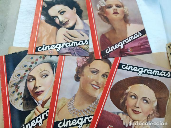 COLECCION 5 REVISTAS, CINEGRAMAS. DOLORES DEL RIO, JEAN ROGERS, DANIELA PAROLA, GAIL PATRICK, MONA G (Cine - Revistas - Cinegramas)