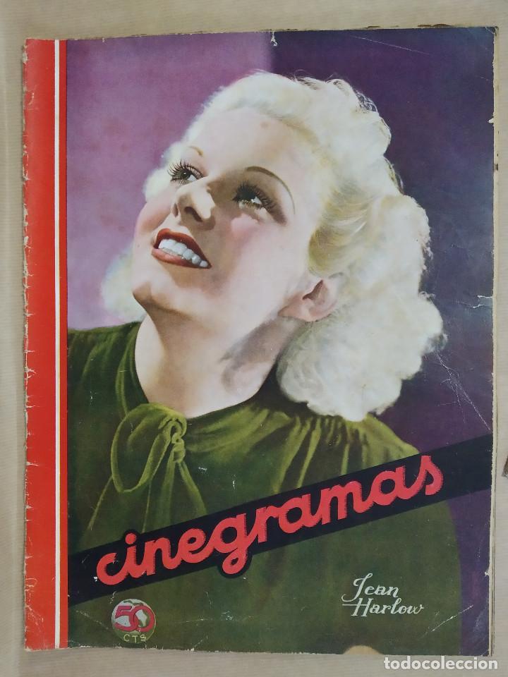 Cine: COLECCION 5 REVISTAS, CINEGRAMAS. JEAN HARLOW, FRANCES GRANT, GLENDA FARRELL, RAQUEL RODRIGO, CHARI - Foto 6 - 224205577