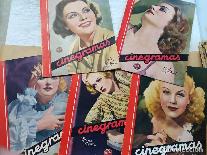 COLECCION 5 REVISTAS, CINEGRAMAS. CAROLE LOMBARD, GINGER ROGERS, MIRIAM HOPKINS, LILIAN BEND, JOAN B (Cine - Revistas - Cinegramas)