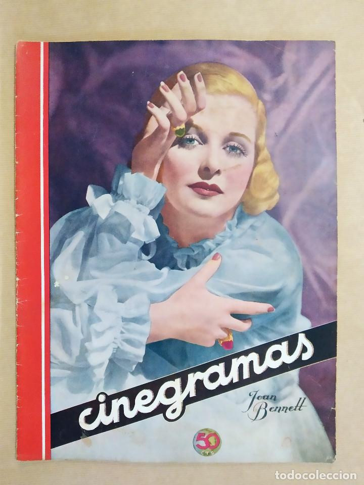 Cine: COLECCION 5 REVISTAS, CINEGRAMAS. CAROLE LOMBARD, GINGER ROGERS, MIRIAM HOPKINS, LILIAN BEND, JOAN B - Foto 2 - 224205956