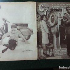 Cinema: REVISTA CINE EN 7 DIAS, N⁰ 52, ABRIL 1962, REPORTAJE DE 2 PÁGINAS DE MARISOL. Lote 224231371