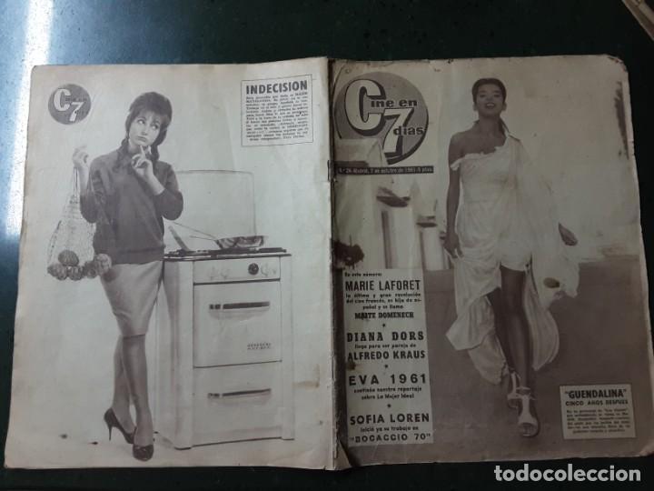 REVISTA CINE EN 7 DIAS, N⁰ 26 OCTUBRE 1961 DIANA DORS, SOFIA .OREN (Cine - Revistas - Cine en 7 dias)