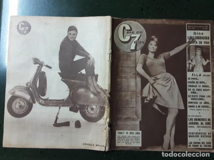 REVISTA CINE EN 7 DIAS, N⁰ 46 FEBRERO 1962 GINA LOLLOBRIGIDA, CONFIDENCIAS DE MARLENE DIETRICH (Cine - Revistas - Cine en 7 dias)