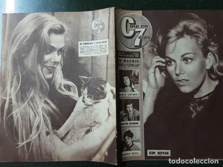 REVISTA CINE EN 7 DIAS, N⁰ 51 MARZO 1962 KIM NOVAK VACACIONES EN LA COSTA DEL SOL (Cine - Revistas - Cine en 7 dias)