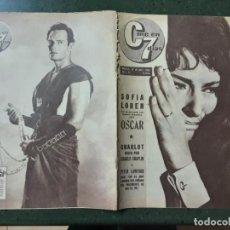 Cine: REVISTA CINE EN 7 DIAS, N⁰ 53 ABRIL 1962 SOFIA LOREN, CHARLOT VISTO POR CHAPLIN. Lote 224240850