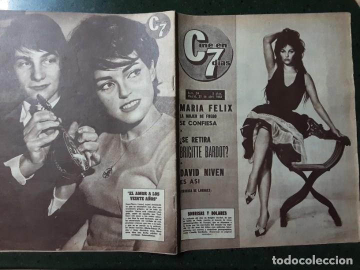 REVISTA CINE EN 7 DIAS, N⁰ 54 ABRIL 1962, CLAUDIA CARDINALE, MARIA FÉLIX, CHARLOT VISTO POR CHAPLIN (Cine - Revistas - Cine en 7 dias)