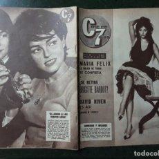 Cine: REVISTA CINE EN 7 DIAS, N⁰ 54 ABRIL 1962, CLAUDIA CARDINALE, MARIA FÉLIX, CHARLOT VISTO POR CHAPLIN. Lote 224241498
