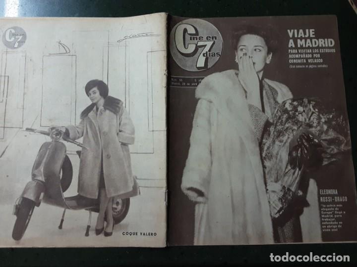 REVISTA CINE EN 7 DIAS, N⁰ 55 ABRIL 1962 ELEONORA ROSSI-DRAGO, JULIETTE GRECO (Cine - Revistas - Cine en 7 dias)