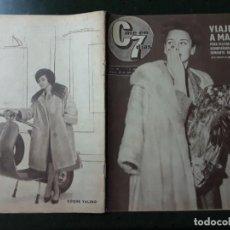 Cine: REVISTA CINE EN 7 DIAS, N⁰ 55 ABRIL 1962 ELEONORA ROSSI-DRAGO, JULIETTE GRECO. Lote 224242187