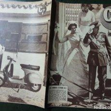 Cine: REVISTA CINE EN 7 DIAS, N⁰ 57 MAYO 1962 BODA EN ATENAS JUAN CARLOS Y SOFIA, GRETA GARBO. Lote 224242840
