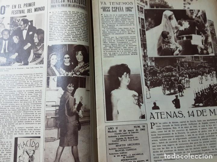 Cine: REVISTA CINE EN 7 DIAS, N⁰ 57 MAYO 1962 BODA EN ATENAS JUAN CARLOS Y SOFIA, GRETA GARBO - Foto 2 - 224242840