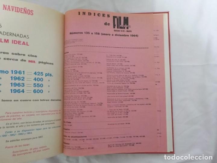 Cine: CUATRO TOMOS ENCUADERNADOS CON REVISTAS FILM IDEAL.AÑOS 60. - Foto 11 - 224583601