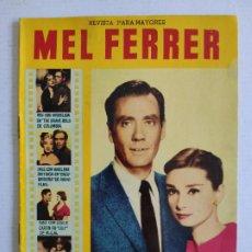 Cine: REVISTA PARA MAYORES - COLECCIÓN CINECOLOR Nº 28 - MEL FERRER Y SU ESPOSA AUDREY HEPBURN - AÑO 1958. Lote 224897002