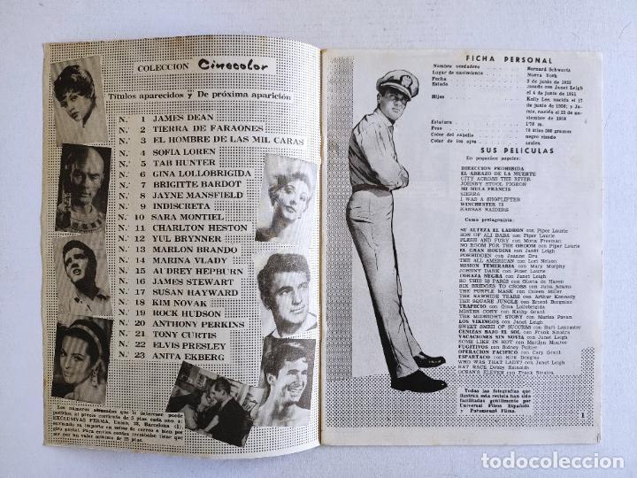 Cine: REVISTA PARA MAYORES - COLECCIÓN CINECOLOR, nº 21 - TONY CURTIS - Año 1958 - Foto 2 - 224898663