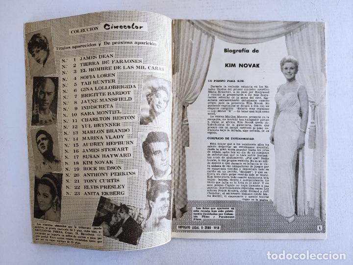 Cine: REVISTA PARA MAYORES - COLECCIÓN CINECOLOR, nº 18 - KIM NOVAK - Año 1958 - Foto 2 - 224898881