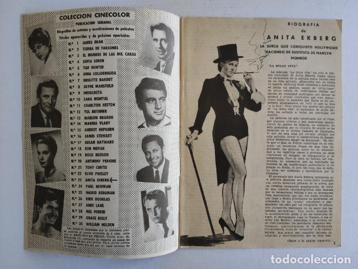 Cine: REVISTA PARA MAYORES - COLECCIÓN CINECOLOR, nº 23 - ANITA EKBERG - Año 1958 - Foto 2 - 224899086