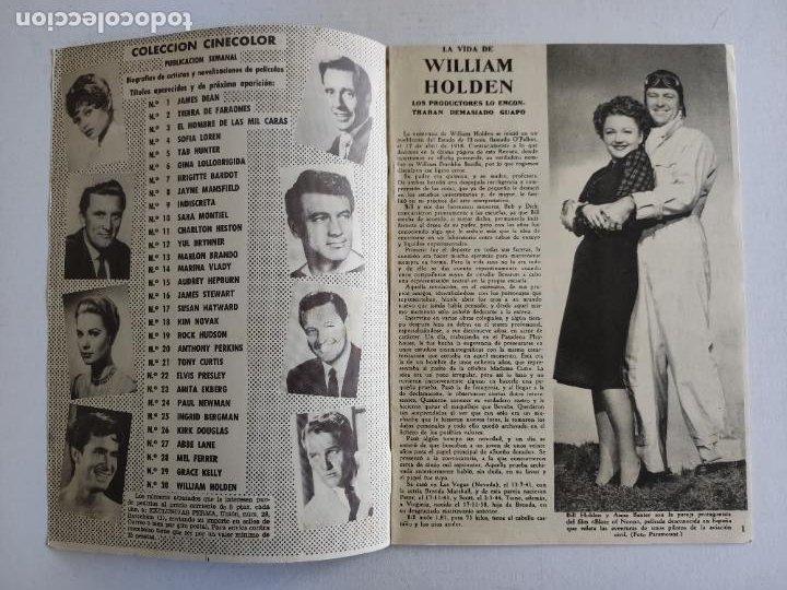 Cine: REVISTA PARA MAYORES - COLECCIÓN CINECOLOR, nº 30 - WILLIAM HOLDEN - Año 1958 - Foto 2 - 224899286