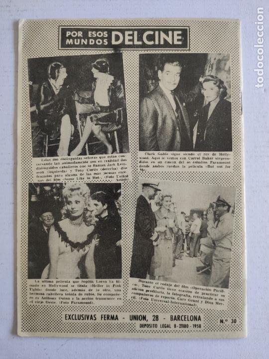 Cine: REVISTA PARA MAYORES - COLECCIÓN CINECOLOR, nº 30 - WILLIAM HOLDEN - Año 1958 - Foto 4 - 224899286
