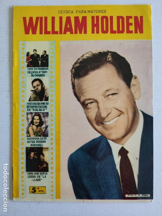 REVISTA PARA MAYORES - COLECCIÓN CINECOLOR, Nº 30 - WILLIAM HOLDEN - AÑO 1958 (Cine - Revistas - Cinecolor)