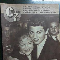 Cine: REVISTA CINE EN 7 DIAS, N⁰ 74 SEPTIEMBRE 1962, PORTADA Y NOTICIA DE MARISOL. Lote 225000280