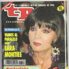 Cine: AAP97 SARA MONTIEL REVISTA ESPAÑOLA TP TELEPROGRAMA Nº 1348 FEBRERO 1992. Lote 225018863