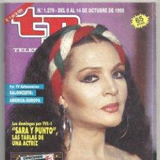 Cine: AAP99 SARA MONTIEL REVISTA ESPAÑOLA TP TELEPROGRAMA Nº 1279 OCTUBRE 1990. Lote 225019185