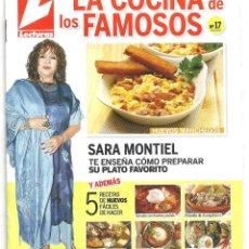 Cine: AAQ00 SARA MONTIEL SUPLEMENTO REVISTA ESPAÑOLA LECTURAS LA COCINA DE LOS FAMOSOS Nº 17. Lote 225019270