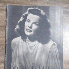 Cine: MFF.- PRIMER PLANO.- REVISTA ESPAÑOLA DE CINEMATOGRAFIA.- Nº.49- 21 SEPTIEMBRE 1941.- PORTADA. Lote 225191006