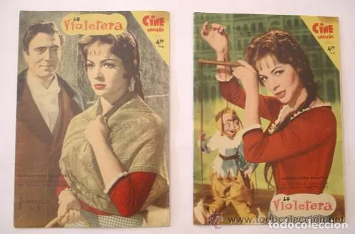 LA VIOLETERA, COMPLETA 8 FASCÍCULOS, SARA MONTIEL AÑO 58. COLECCION MANDOLINA, EDICIONES FHER (Cine - Revistas - Colección grandes películas)
