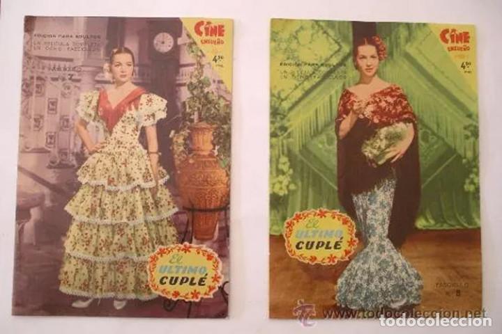 Cine: El Ultimo Cuplé completa 8 fascículos, Sara Montiel, año 58. colección Mandolina, Ediciones Fher - Foto 4 - 225453141