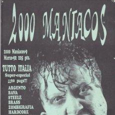 Cine: 2000 MANÍACOS Nº 9 - TUTTO ITALIA - ORIGINAL. Lote 225501520
