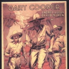 Cinema: P-9011- LA JUNGLA EN ARMAS (THE REAL GLORY) (COPIA CARTEL FORMATO FOLLETO DE MANO) GARY COOPER. Lote 225953982