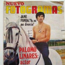 Cine: REVISTA FOTOGRAMAS Nº 1128 PALOMO LINARES ROMY SCHNEIDER JANE FONDA SERGE REGGIANI CHRISTOPHER LEE. Lote 226611200