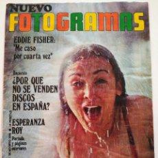 Cine: REVISTA FOTOGRAMAS Nº 1139 EDDIE FISHER ESPERANZA ROY EMMA COHEN ROMAN POLANSKI FERNANDO SANCHO. Lote 226634950