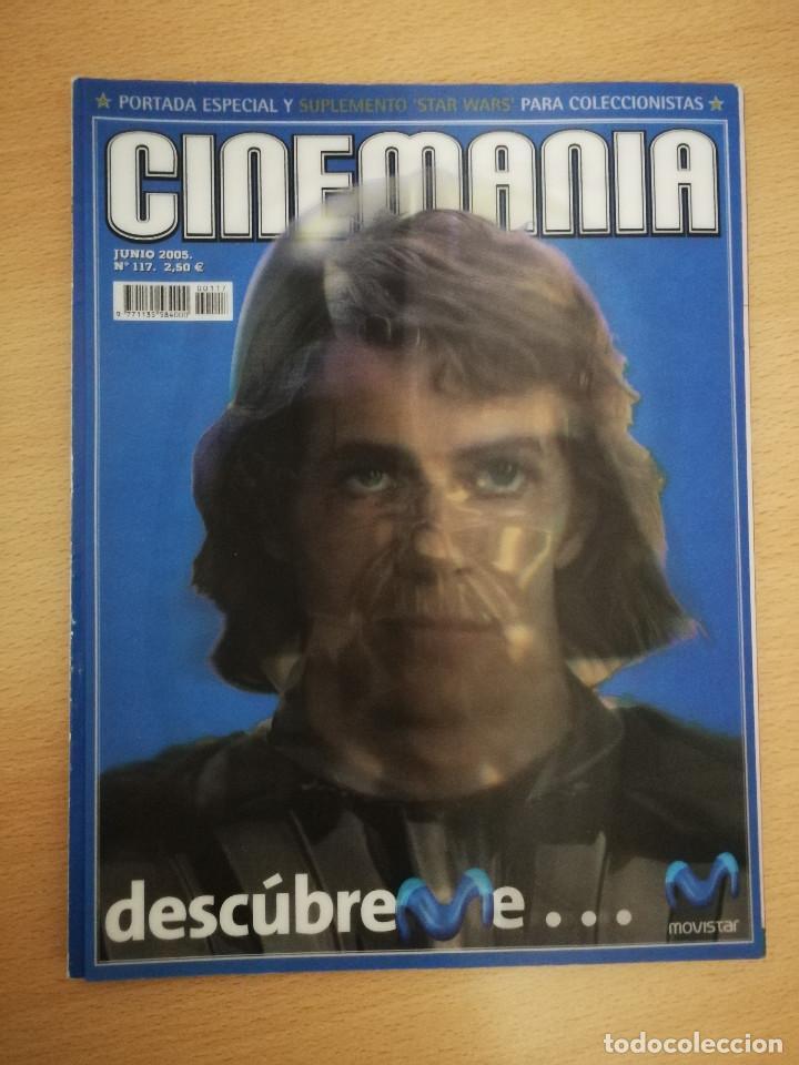 REVISTA CINEMANÍA JUNIO 2005, PORTADA ESPECIAL Y SUPLEMENTO STAR WARS , CON PORTADA CON HOLOGRAMA (Cine - Revistas - Cinemanía)