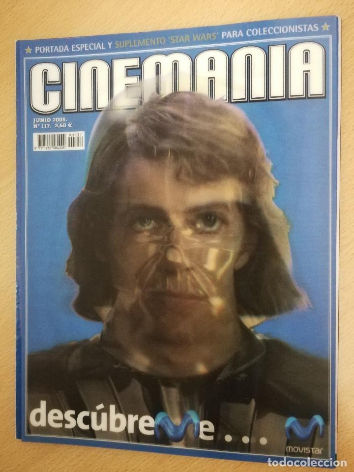 Cine: revista Cinemanía junio 2005, portada especial y suplemento Star Wars , con portada con holograma - Foto 2 - 226654100