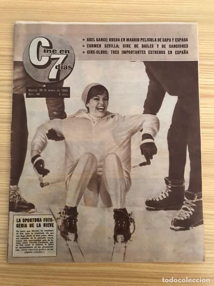 REVISTA, CINE EN 7 DÍAS.., CLAUDIA CARDINALE, NO.94 (26 DE ENERO DE 1963) (Cine - Revistas - Cine en 7 dias)
