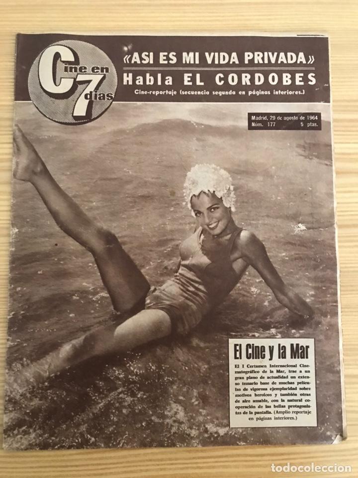 REVISTA, CINE EN 7 DÍAS. I CERTAMEN INTERNACIONAL EL CINE Y EL MAR, NO.177, EL CORDOBÉS, MARISOL.. (Cine - Revistas - Cine en 7 dias)