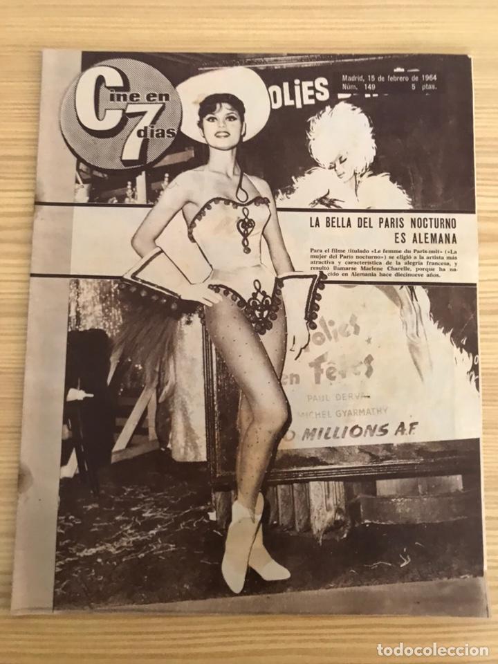 REVISTA, CINE EN 7 DÍAS. LA BELLA DEL PARIS NOCTURNO ES ALEMANA, NO.149, (15 DE FEBRERO DE 1964) (Cine - Revistas - Cine en 7 dias)