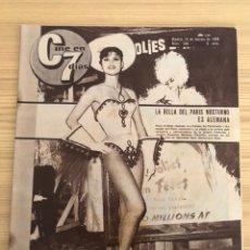 Cine: REVISTA, CINE EN 7 DÍAS. LA BELLA DEL PARIS NOCTURNO ES ALEMANA, NO.149, (15 DE FEBRERO DE 1964). Lote 227110165