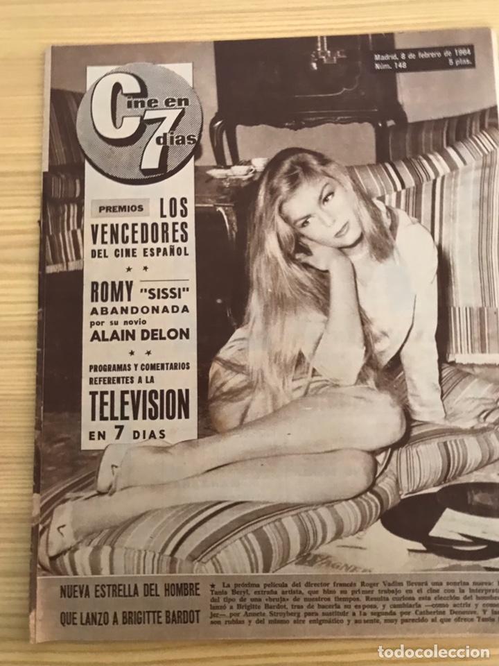 REVISTA, CINE EN 7 DÍAS ALAIN DELON, PREMIOS: LOS VENCEDORES DEL CINE ESPAÑOL, NO.148 (Cine - Revistas - Cine en 7 dias)