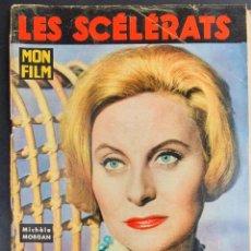 Cine: REVISTA FRANCESA FILM LES SCÉLÉRATS MICHÈLE MORGAN, ROBERT HOSSEIN, OLIVIER HUSSENOT, JACQUELINE MOR. Lote 227476895