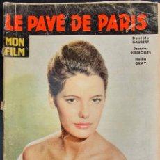 Cine: REVISTA FRANCESA FILM THE PAVEMENTS OF PARIS DANIÈLE GAUBERT, JACQUES RIBEROLLES. JACQUES CHARRIER. Lote 227478115